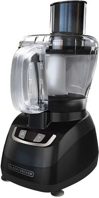 10. BLACK +DECKER Stainless Steel 8-Cup Dishwasher-Safe Black 450W Plastic Food Processor