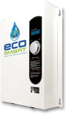 4. ECOSMART ECO 240V 18KW Patented Self-Modulating Tech White Electric Tankless Water Heater