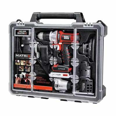 7. BLACK+DECKER Powerful 20V Max Motor Lithium Battery Cordless Power Tool Combo Kit