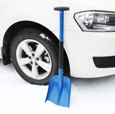 9. CARTMAN Red Aluminum 1.3lbs Lightweight Sturdy Portable Utility Snow Shovel