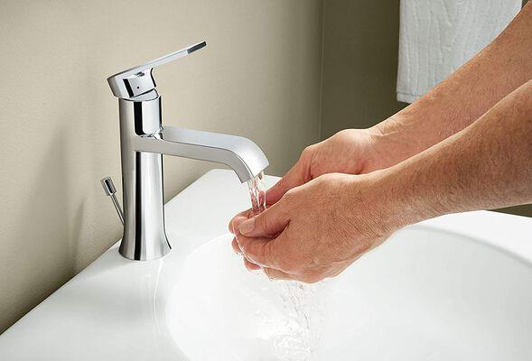 2. Moen 6702 One-Handle Bathroom Sink Faucet, Chrome