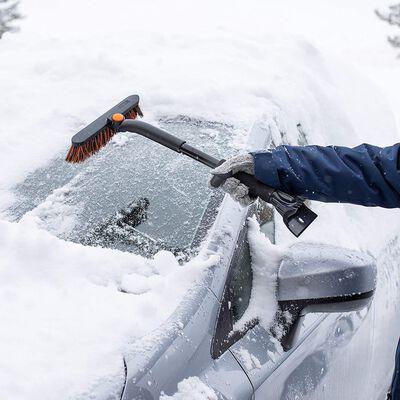 8. BIRDROCK HOME Snow Car Brush & Ice Scraper - Lightweight, Tough and Durable
