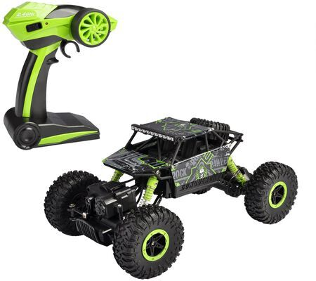 10. HAPINIC 1/18 Green Two Battery Crawlers 4WD 2.4 GHz Off-Road RC Car Vehicle Toy