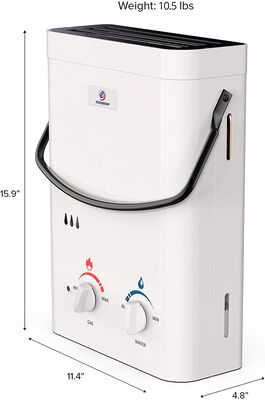 10. ECCOTEMP 1.5 GPM Lightweight Easy-to-Carry CSA-Certified Portable Tankless Water Heater