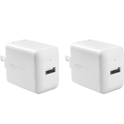 8. AmazonBasics One-Port USB Wall Charger