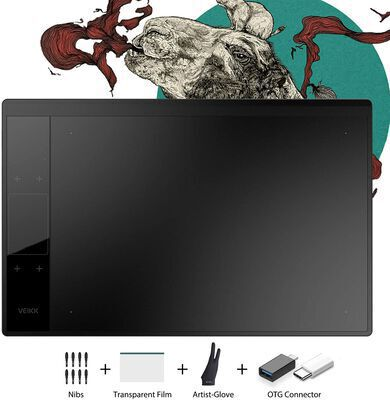 9. VEIKK A30 V2Graphic Drawing Tablet, Works with Windows, Mac, and Android OS