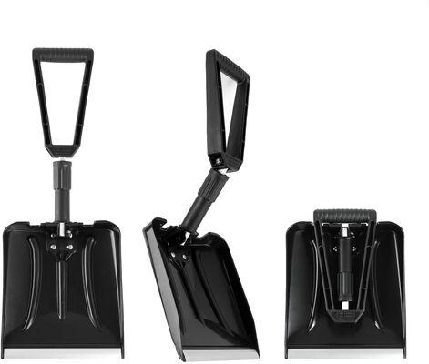 6. ELIVERN 9 Inch Blade D-Grip Handle Comfortable Foldable Durable Aluminum Snow Shovel Kit