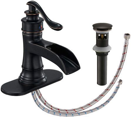 5. Homevacious Waterfall Bathroom Sink Faucet, Lead-Free