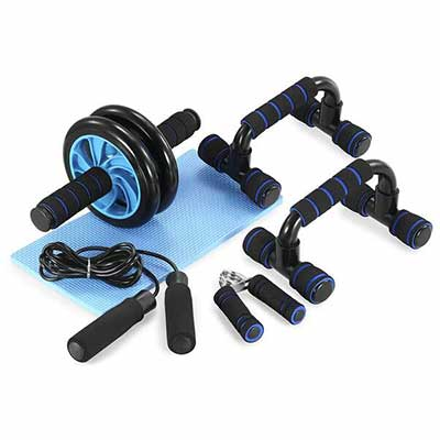 5. TOMSHOO Upgraded Version5-in-1 Workout Ab Wheel Roller Kit Equipment for Home Exercise