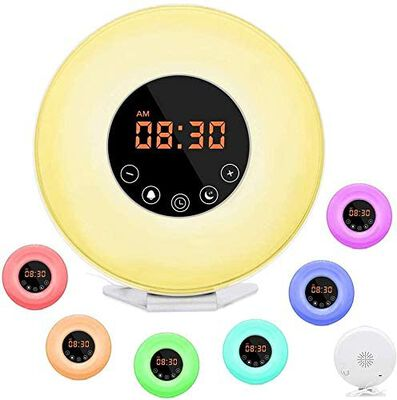 8. L Bell Wake Up Light Clock for Heavy Sleepers