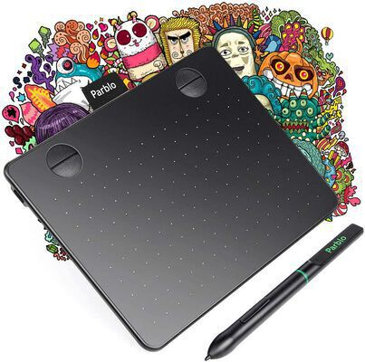 10. Parblo A640 Drawing Tablet with a Battery-Free Stylus Pen