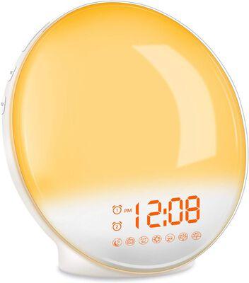 4. TITIROBA Wake-Up Light Alarm Clock- Adjustable Brightness