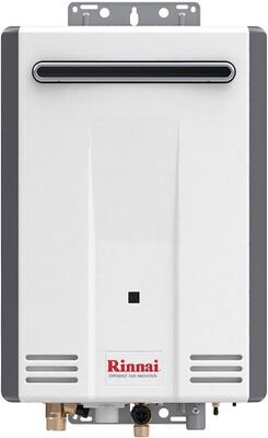 2. RINNAI V53DeP Propane 5.3 GPM Endless Hot Water Efficient Electric Tankless Water Heater