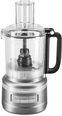 3. KitchenAid 9-Cup Contour Silver KFP0918CU Twist-Free Leak-Resistant 3-Speed Food Processor