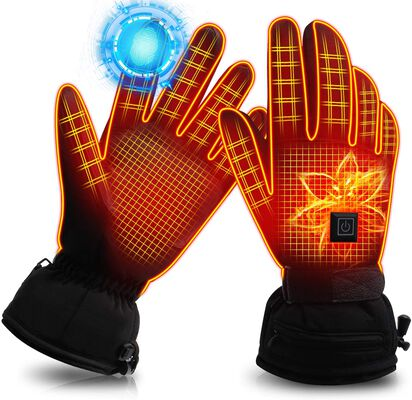8. IFWATER Touchscreen Non-Slip Cotton Explosion-Proof Rechargeable Electric Heated Gloves