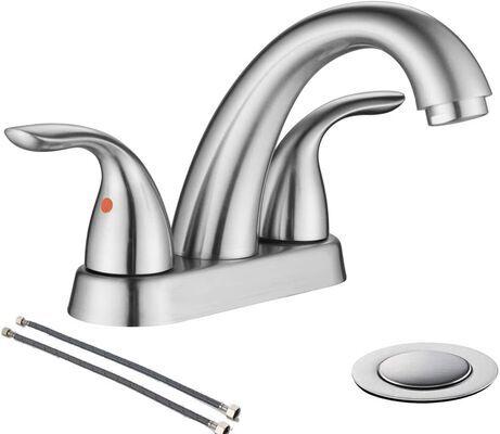 9. phiestina Brushed Nickel Bathroom Sink Faucet, BF008-5-BN