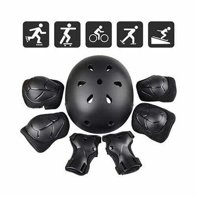 9. Jhua Knee Pads Elbow Pads Wrist Pad Guards 3-8 Years Children Knee Pads & Helmet
