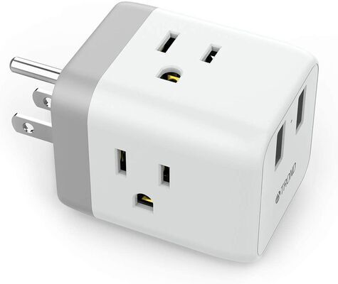 7. TROND Multi-Plug Outlet Extender Box with two USB Ports