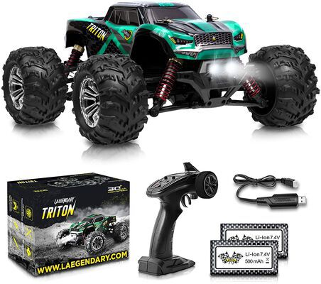 1. LAEGENDARY 4WD All Terrain 30KM/H High Speed 1:20 Boys Remote Control Car w/Two Batteries