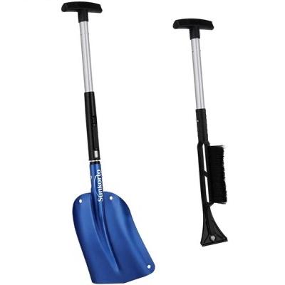 7. SUNKORTO 35 – 40 Inch Lightweight Foldable Blue Collapsible Sport Utility Snow Shovel Kit
