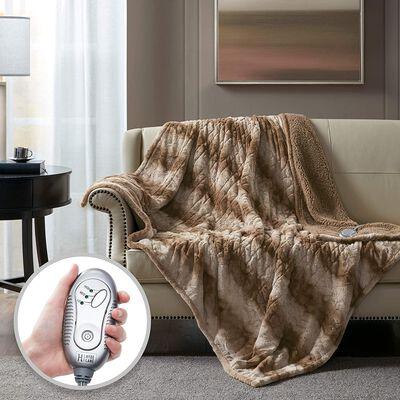 2. Hyde Lane Electric Throw Blanket   Machine Washable