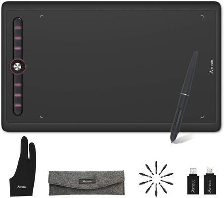 6. Artisul Graphics Drawing Tablet with a Battery-Free Stylus