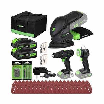 9. GALAX Pro Cordless Torch 110lm Battery Li-Ion DIY Power Tool Combo Kit for Home Repair
