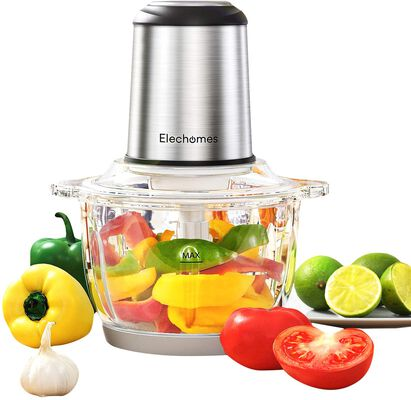 9. ELECHOMES Detachable Dual Layer 300W 8-Cup Multi-Purpose Food Processor & Vegetable Chopper