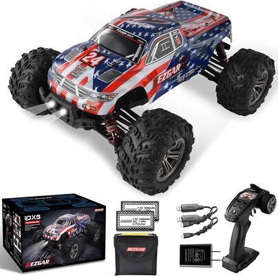 2. BEZGAR 42Km/h 4WD High Speed All Terrains off Road 1:16 Scale RC Car for Kids & Adults