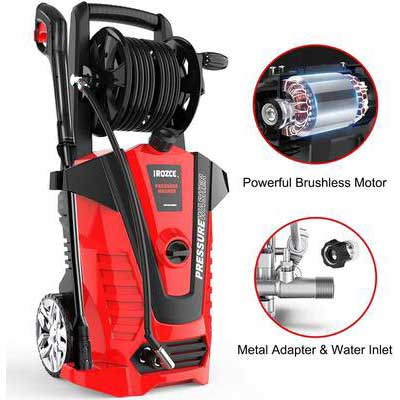 3. iRozce 3045 PSI Max Electric Power Washer 2.3 GPM High-Pressure Washer w/Hose Heel