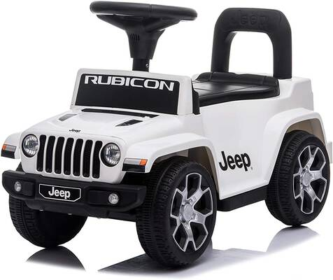 ride push jeep rubicon powered kid buggy under seat