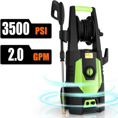 9. CHAKOR 2.0 GPM 1800W High-Pressure Cleaner w/Adjustable Nozzle 500 PSI Pressure Washer