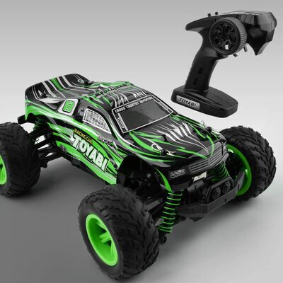 6. Gizmovine 1:16 Scale IPX5 Water-Resistant Off-Road RTR Electric High-Speed RC Car for Boys