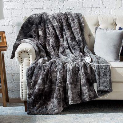 3. Bedsure Electric Heated Blanket - Fast Heating, Grey