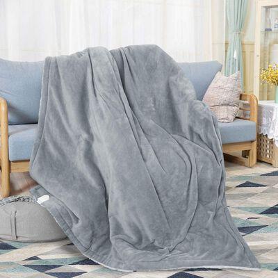 5. Diwenhouse Electric Heated Blanket (Grey)