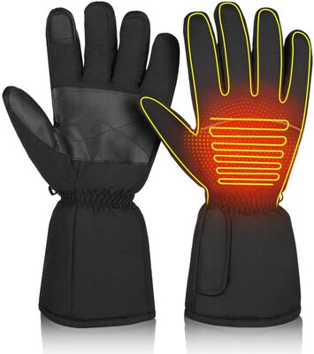 9. CLISPEED Waterproof Touchscreen High-Quality Thermal Heated Gloves for Men & Women (Black)