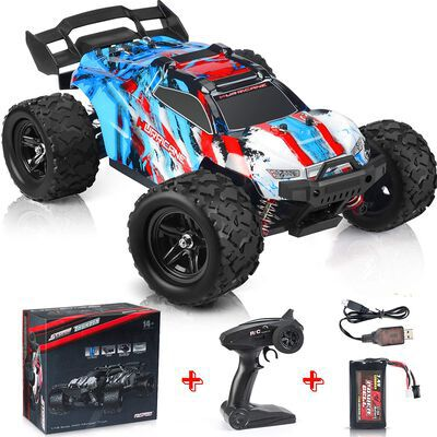 7. KOLEGEND All Terrain Red 1200 MAH 4WD High Speed RC Car Monster Truck for Kids & Adults