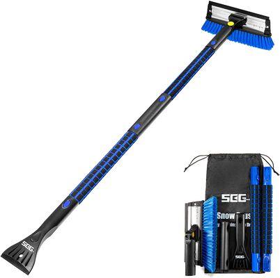2. SEG Direct 50 Inch Snow Brush and Ice Scraper (Blue)
