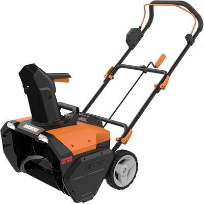 2. WORX Single-Stage High-Efficiency Dual LED Headlight Orange & Black 40V Snow Blower